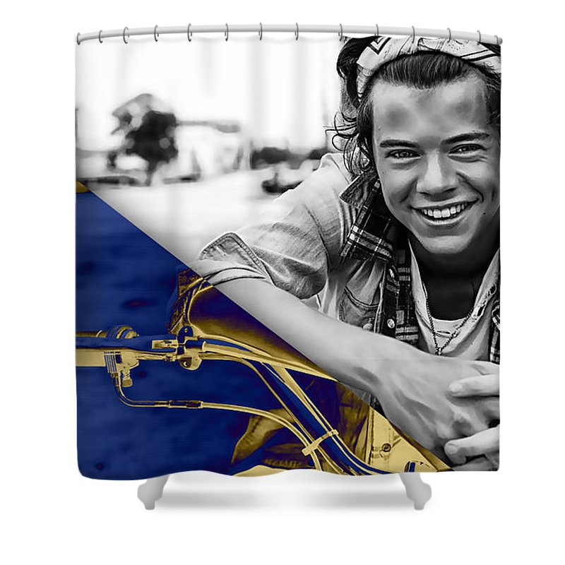 harry styles collection shower curtain