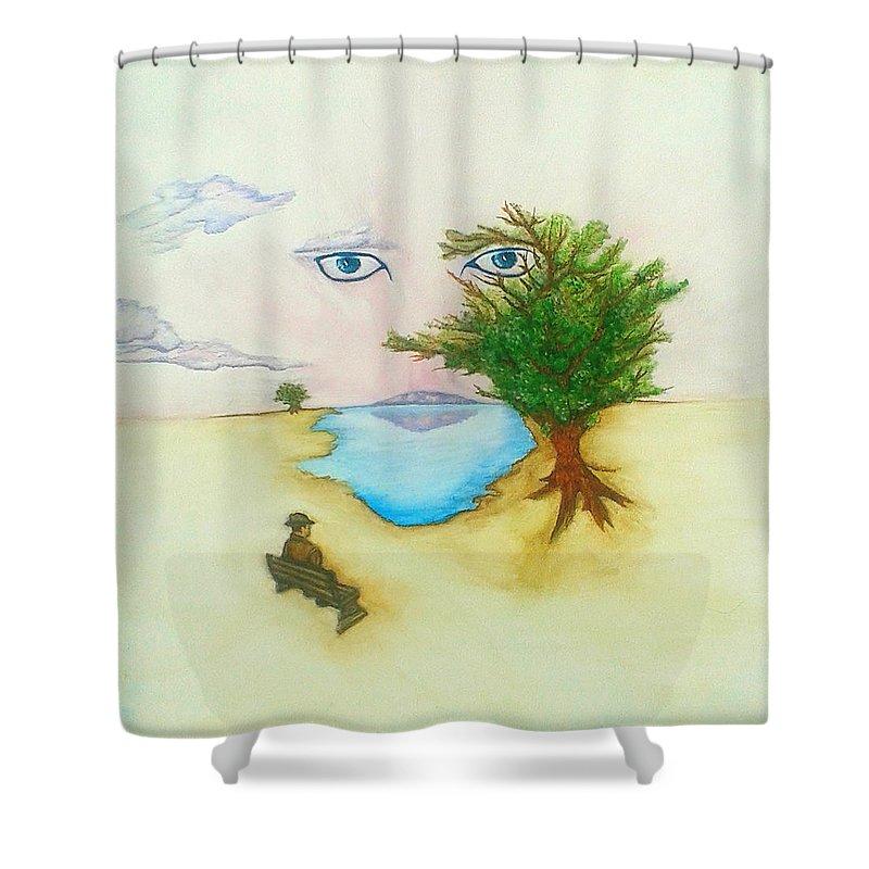 human nature shower curtain
