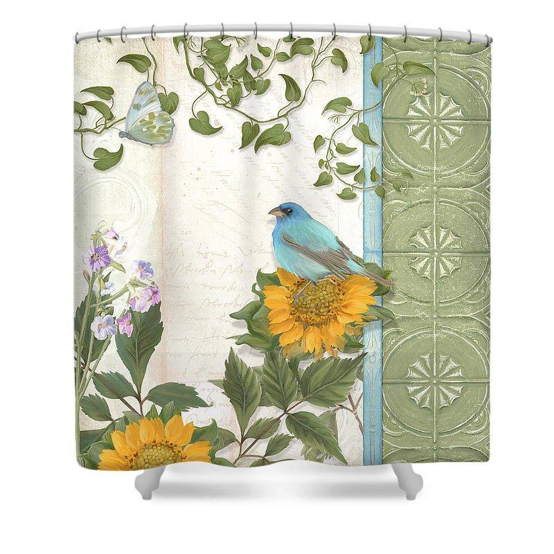 les magnifiques fleurs iv secret garden shower curtain