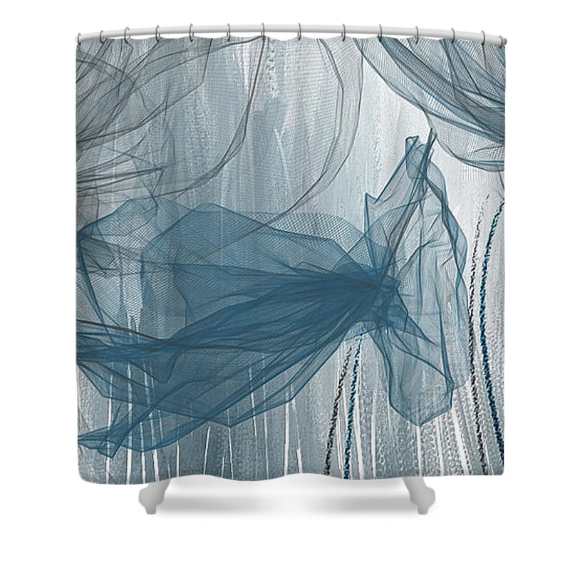 navy and gray abstract navy blue and gray modern art shower curtain