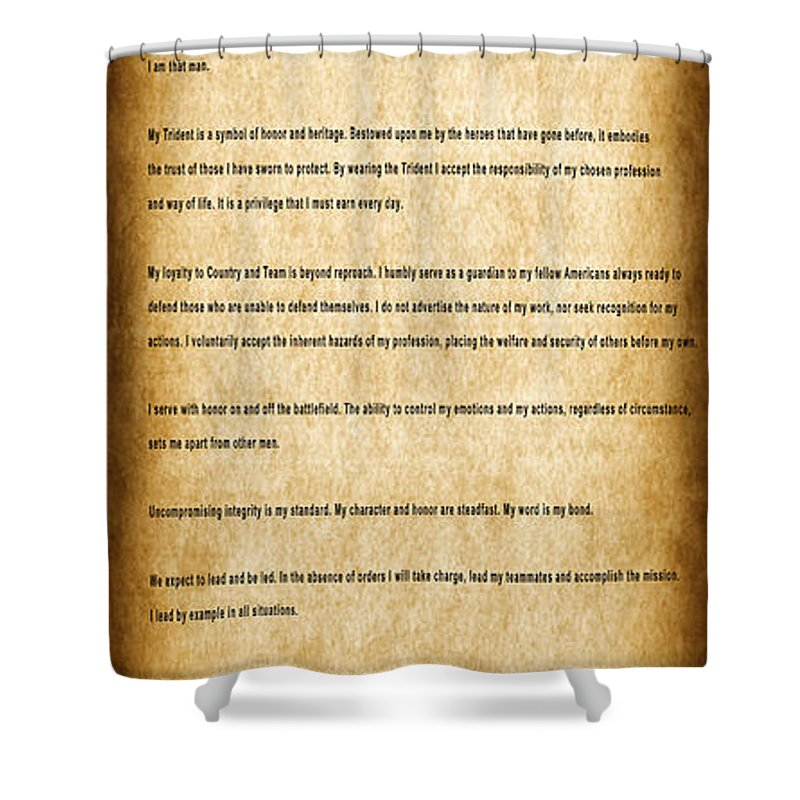 navy seals creed shower curtain