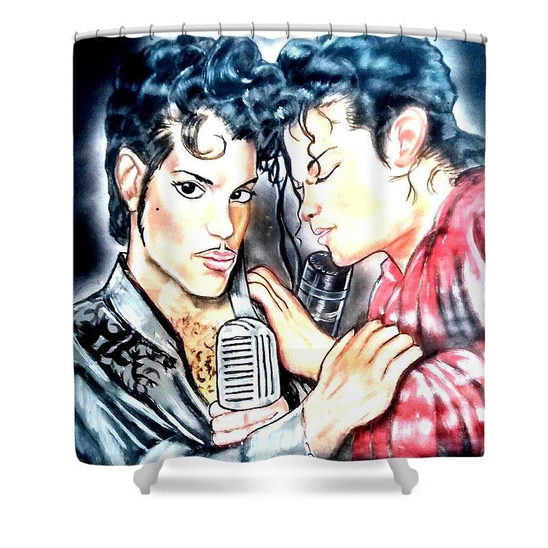 prince michael jackson shower curtain