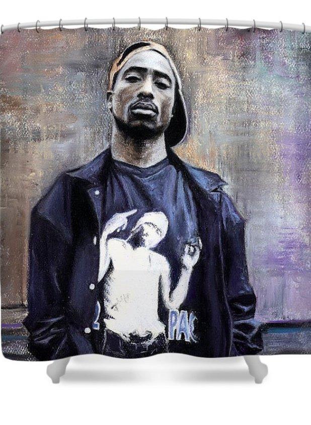 Rapper Tupac Shower Curtains Fine Art America