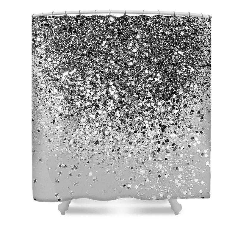 soft silver gray glitter 1 faux glitter photography shiny decor art shower curtain