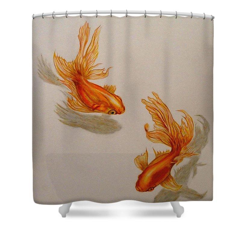 goldfish twins shower curtain