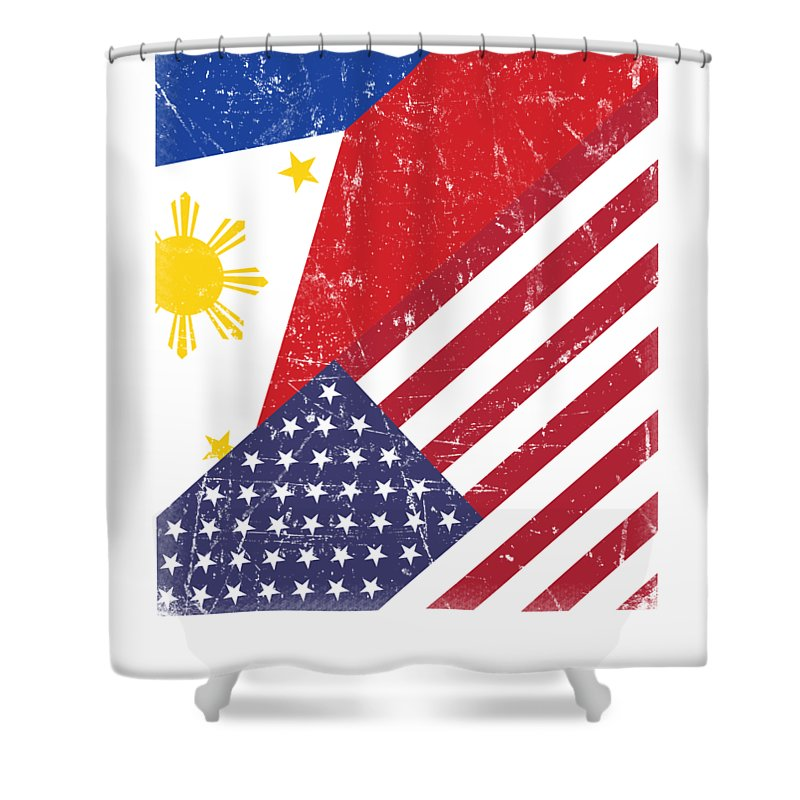 philippines american filipino 4th of july gift fourth july usa flag independence day shower curtain