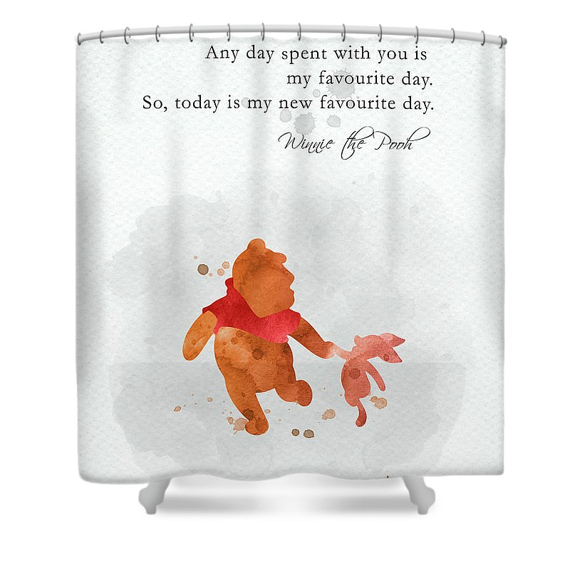 piglet and pooh quote watercolor 1 shower curtain