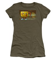 Coffee Women's T-Shirt featuring the photograph What I Look Like Before I Have My Morning Coffee... by Nancy Ayanna Wyatt