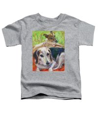 Two Dogs Toddler T-Shirt for Sale by Xueling Zou
