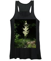 Yucca Women's Tank Top featuring the photograph Yucca Blossoms by Nancy Ayanna Wyatt