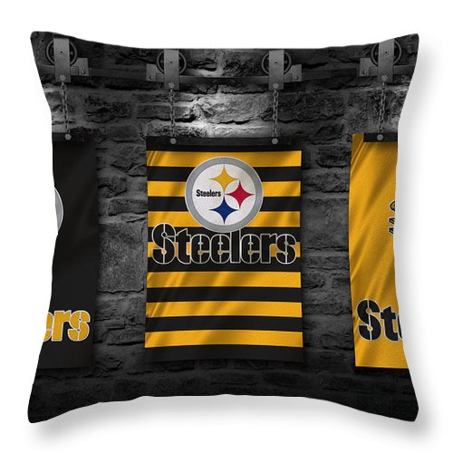 Pittsburgh Steelers Throw Pillow for Sale by Joe Hamilton