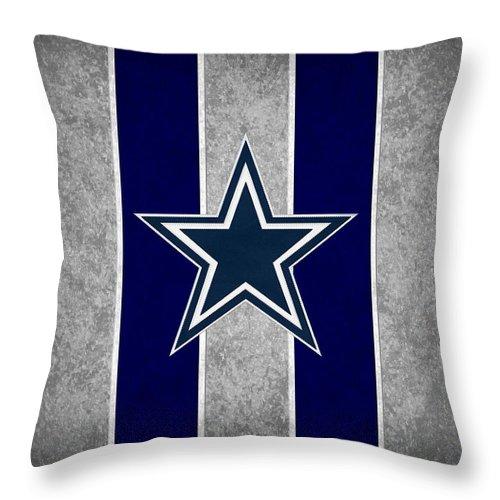 Dallas Cowboys Throw Pillow for Sale by Joe Hamilton