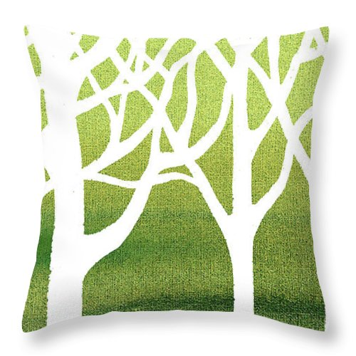 white abstract forest green background interior decor elongated throw pillow