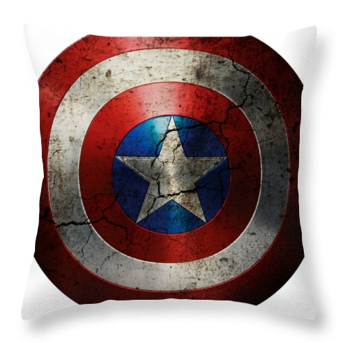 captain america shield throw pillow