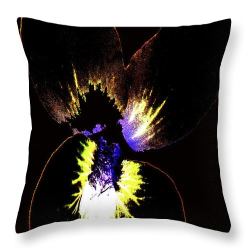 Abstract Throw Pillow featuring the photograph Explosion by Holly Morris