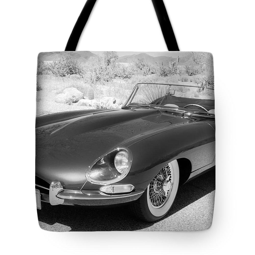 1963 jaguar xke roadster tote bag featuring the photograph 1963 jaguar xke roadster by jill reger [ 1000 x 1000 Pixel ]