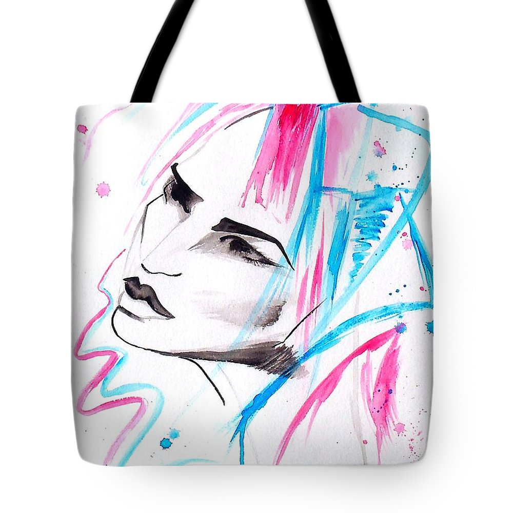cotton candy girl tote