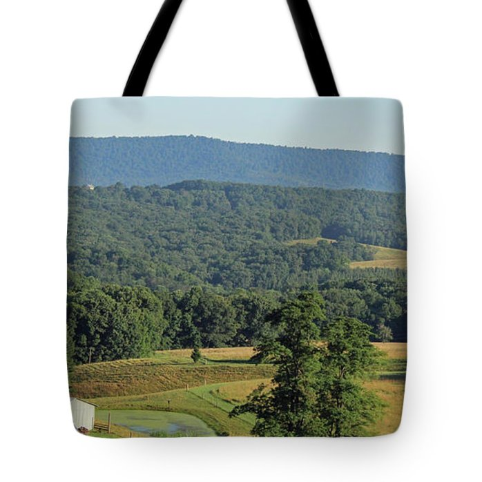 Nature Tote Bag featuring the photograph western Maryland mountains by Holly Morris