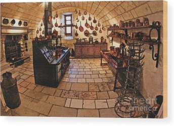 Medieval Kitchen Wood Print by Paul Topp
