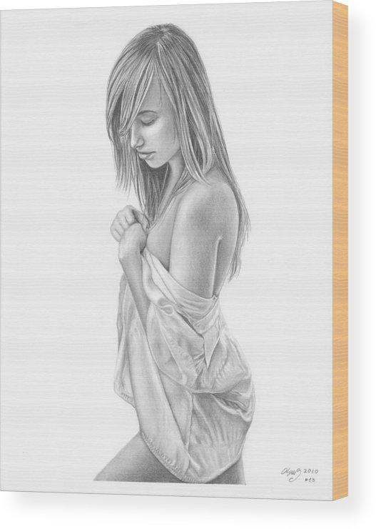 original pencil drawing girl
