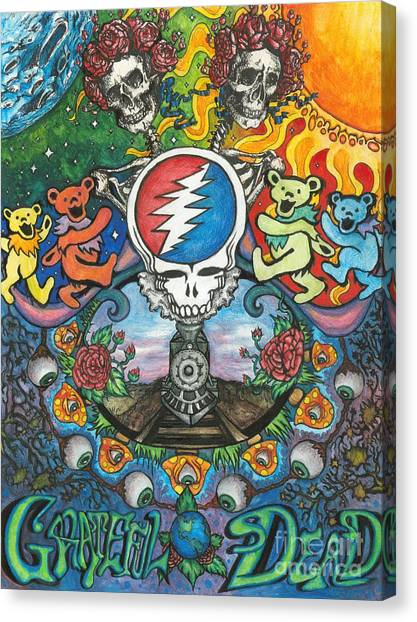 Grateful Dead Canvas Wall Art - grateful dead wall art elitflat ...