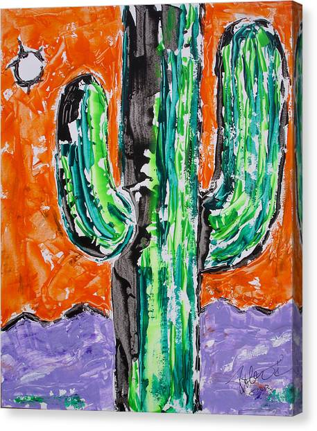 Neon Saguaro Cactus Limited Edition Poster Christmas Card