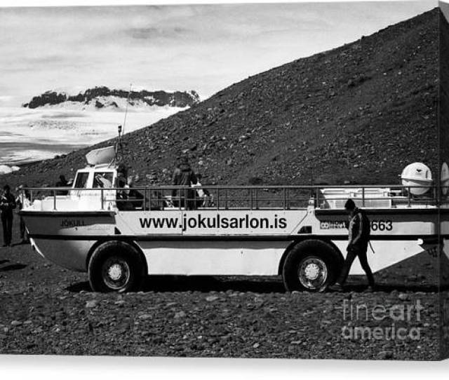 Amphibious Vehicle Tour At Jokulsarlon Glacial Lagoon Iceland Canvas Print By Joe Fox
