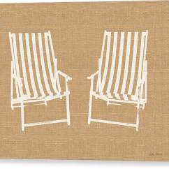 Canvas Beach Chair Power Accessories Bags Prints Fine Art America Print Chairs On Burlap By Linda Woods