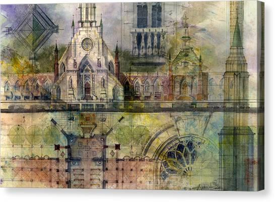 architecture canvas prints pixels