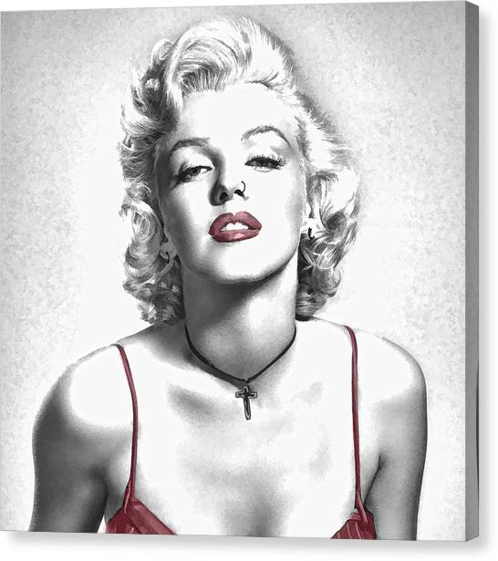 Marilyn Monroe Red Lips Canvas Prints Page 9 Of Fine Art America