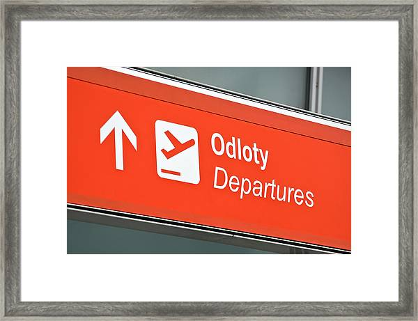 airport departure sign by