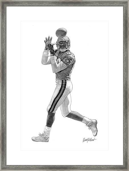 Jerry Rice Drawing by Harry West