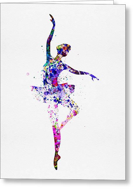 Ballerina Dancing Watercolor 2 Painting By Naxart Studio