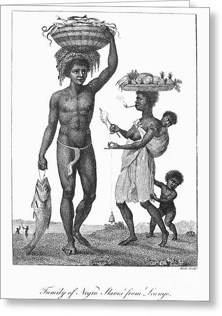 Surinam: Slave Family, 1796 Photograph by Granger