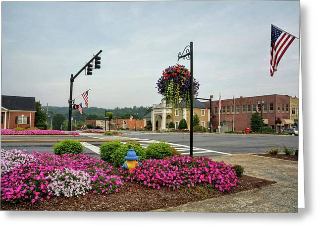 Flags And Flowers In Murphy North Carolina Photograph by