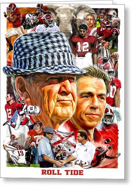 Alabama Football Greeting Cards Fine Art America
