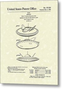 Aircraft 1960 Patent Art Drawing by Prior Art Design