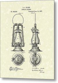 Lantern 1887 Patent Art Drawing by Prior Art Design