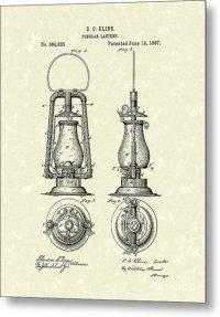 Lantern 1887 Patent Art Drawing by Prior Art Design