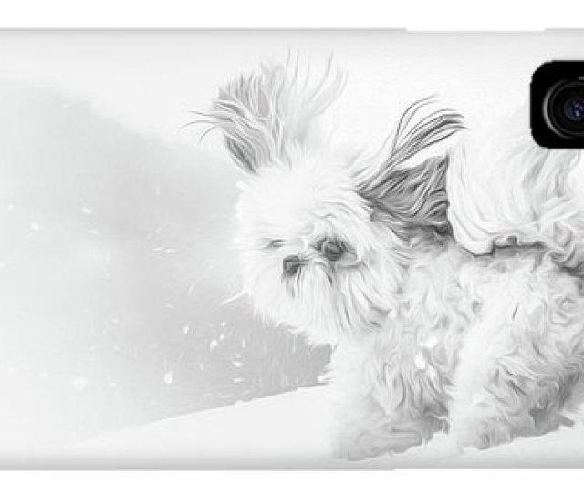 Dog Christmas Cards Iphone Case First Snow By Joy Mcadams