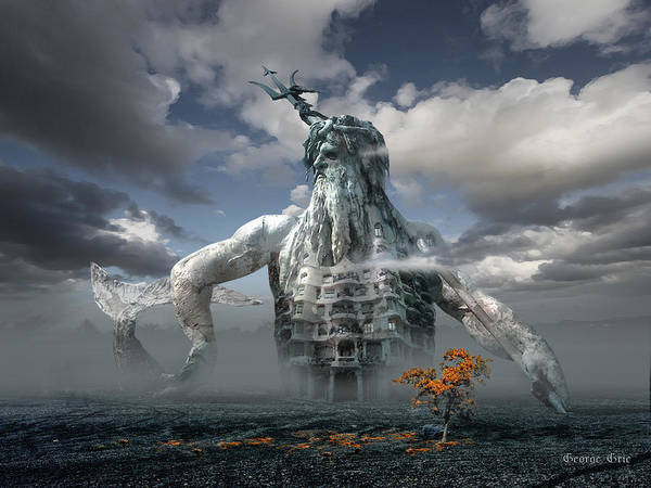 Fantasy Girl Dream Floating House Castle Wallpaper King Neptune Art Fine Art America