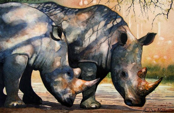 rhino paintings fine art