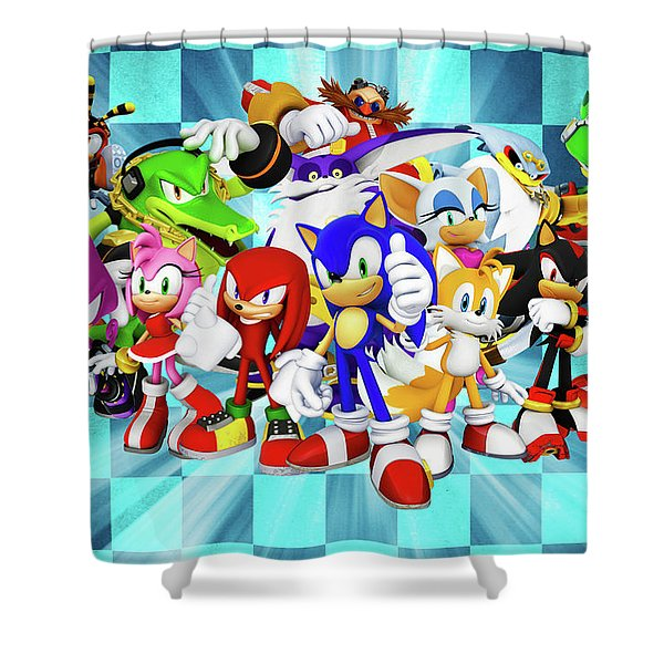 sonic the hedgehog shower curtains