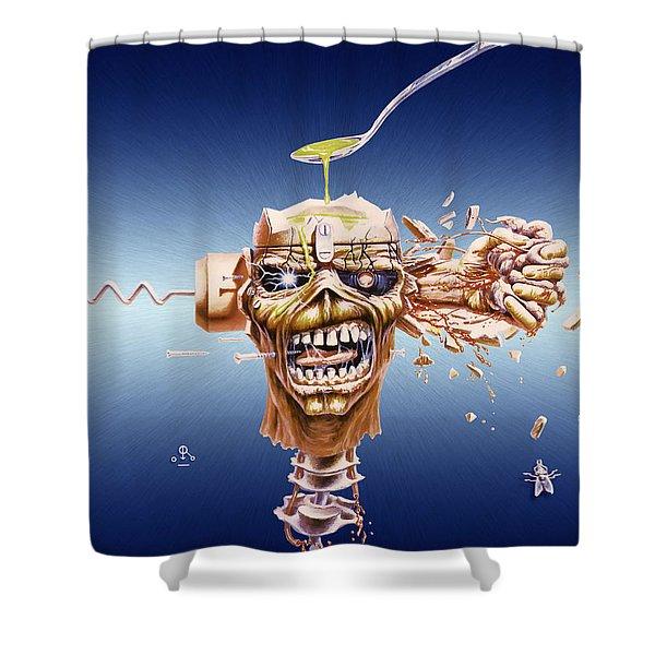 iron maiden shower curtains fine art