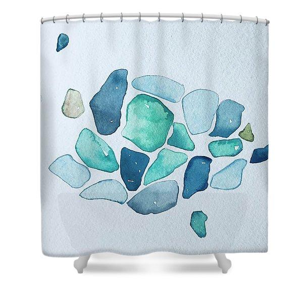 sea glass shower curtains fine art