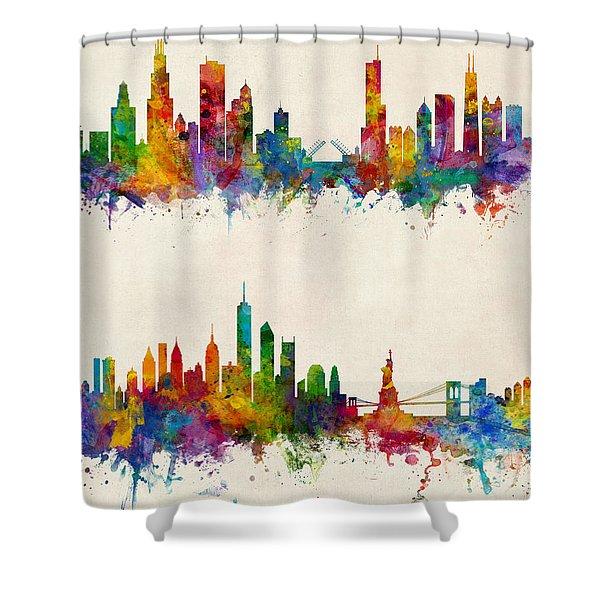 nyc skyline shower curtains fine art