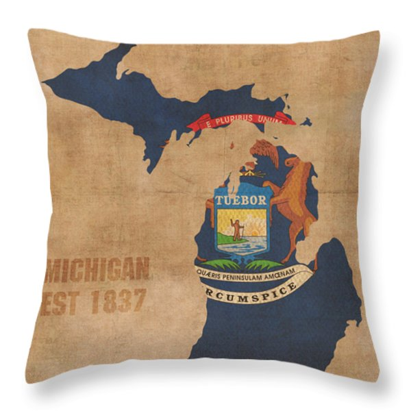 Michigan Throw Pillows for Sale
