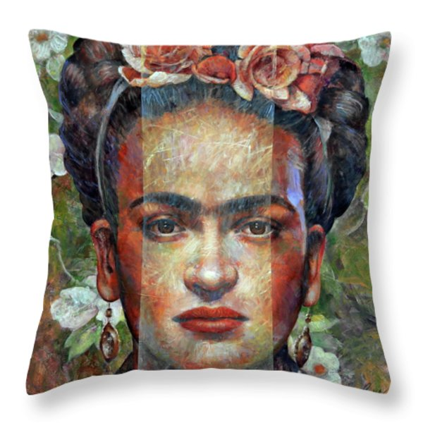 frida kahlo throw pillows fine art