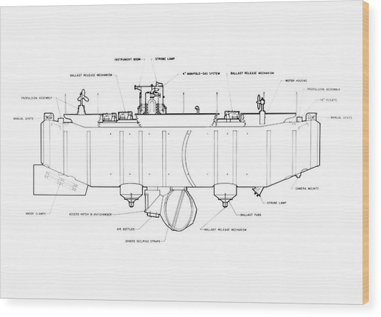 Trieste Bathyscaphe Photograph by Us Navy/science Photo