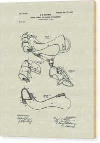 Saddle 1902 Patent Art Drawing by Prior Art Design